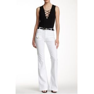 7 For All Mankind White Georgia Jeans